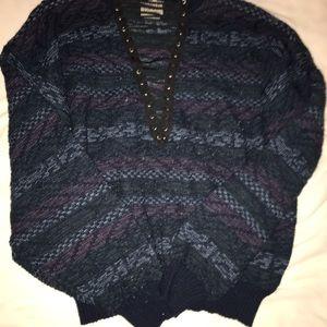 LF Lace Up Sweater